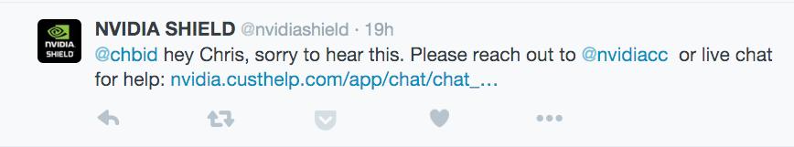 nVidia Response Twitter