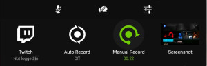 nVidia's Record Window pops up with a long press on HOME