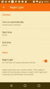 The Swift_2 Night LIght screen