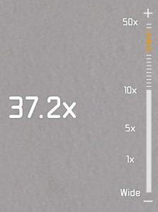 P30 Pro zoom factor indicator