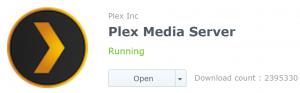 DSM's logo for Plex