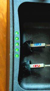 LiNX Quattro charging case LEDs
