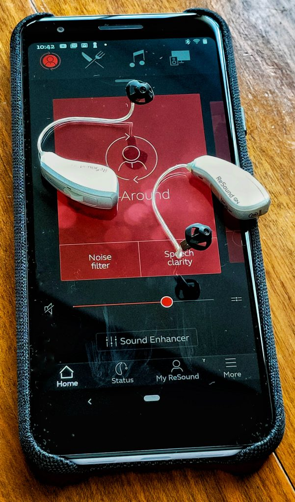 LiNX Quattro hearing aids with the Google Pixel 3